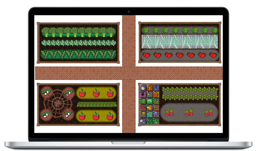 Vegetable garden planner and garden design software for Vegetable garden layout app